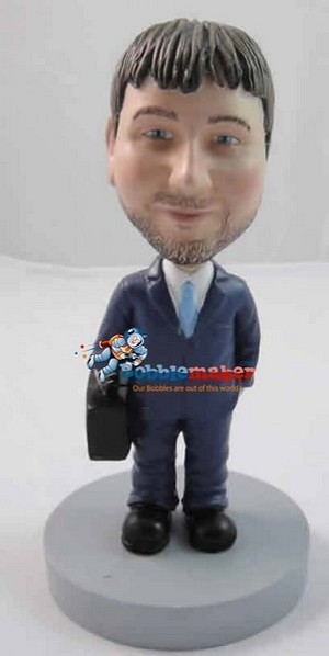 Businessman With Briefcase bobblehead Doll
