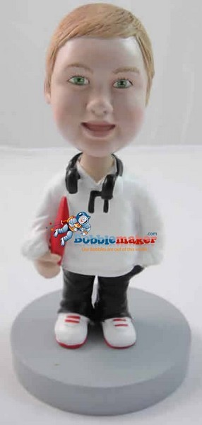 Custom Bobble Head | Kid With Headphones Bobblehead | Gift Ideas For Men