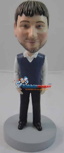 Sweater Vest Male bobblehead Doll
