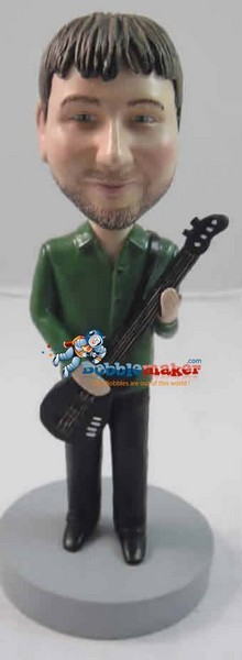 Male Bass Player bobblehead Doll
