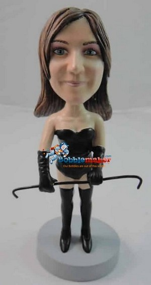 Dominating Woman bobblehead Doll