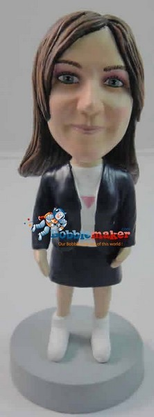 Office Woman With Skirt bobblehead Doll