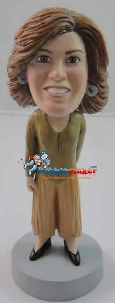 Flowy Office Clothes Female bobblehead Doll