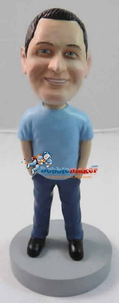 Hands In Jeans Man bobblehead Doll