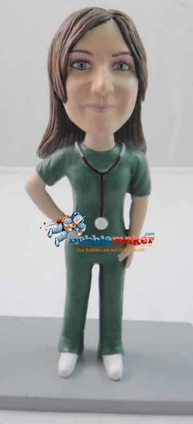 Female Hospital Doctor bobblehead Doll