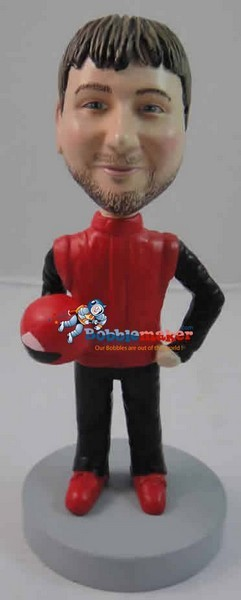 Custom Bobble Head | Race Car Driver Man Bobblehead | Gift Ideas For Men