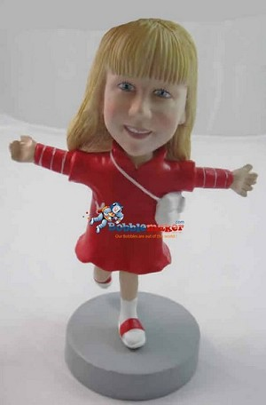 Custom Bobblehead | On One Leg Girl Bobblehead