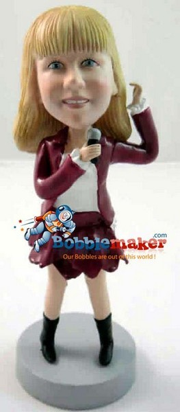 Female Singer bobblehead Doll