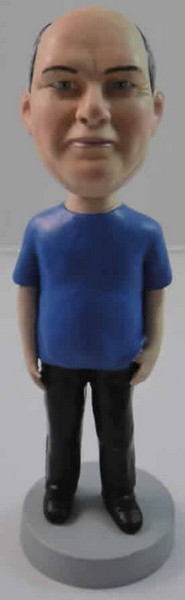 T-Shirt And Pants Male bobblehead Doll