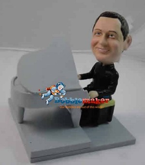 Man At Grand Piano bobblehead Doll