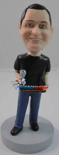 Custom Bobble Head | Man With Glass Bobblehead | Gift Ideas For Men