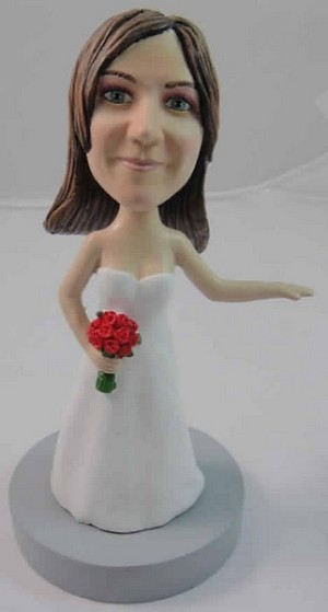Custom Bobble Head | Bride With Roses Bobblehead | Gift Ideas For Women