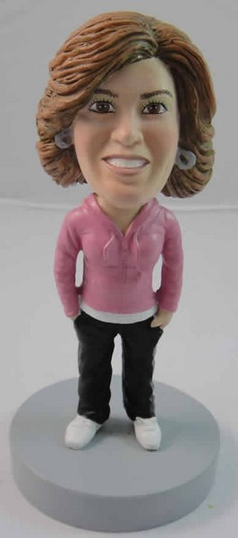 Custom Bobble Head | Hoodie Woman Bobblehead | Gift For Men