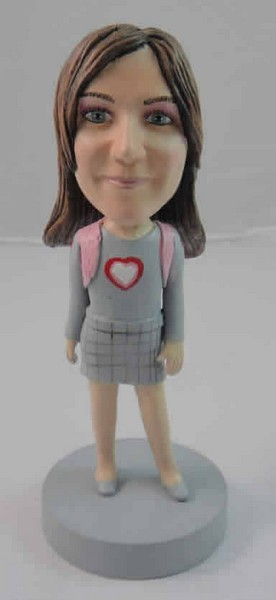 Custom Bobble Head | Heart Shirt Girl Bobblehead | Gift Ideas For Women