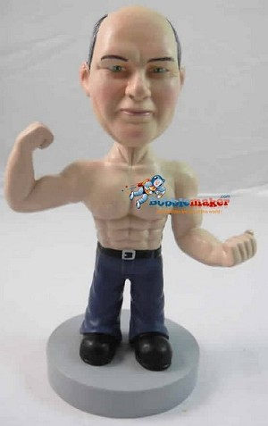 Flexing Muscle Man bobblehead Doll