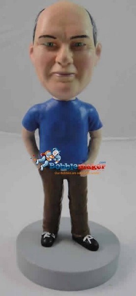 Hand In Right Pocket Male bobblehead Doll