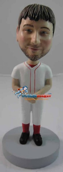 Custom Bobble Head | Man In Baseball Uniform Bobblehead | Gift Ideas For Men