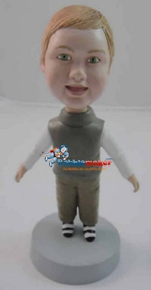 Boy In Sweater Vest bobblehead Doll