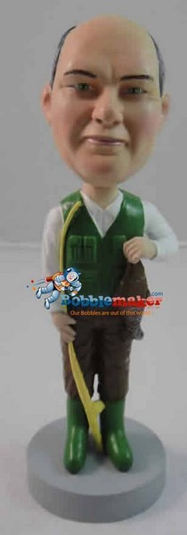 Fisherman Male bobblehead Doll