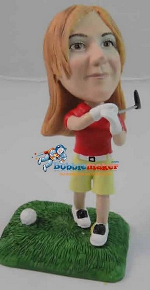 Custom Bobblehead | Golfing Female Bobblehead