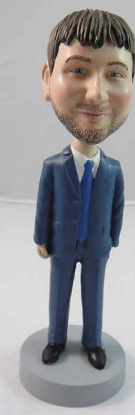 Open Suit Male bobblehead Doll