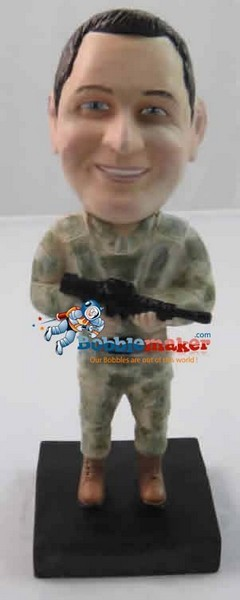 Custom Bobble Head | Soldier With Rifle Bobblehead | Gift Ideas For Men
