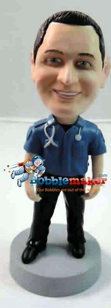 Paramedic Male bobblehead Doll