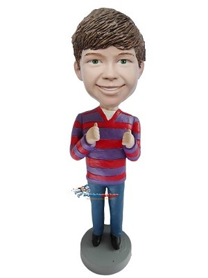 Male Giving Thumbs Up bobblehead Doll