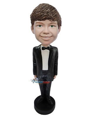Boy Groomsman bobblehead Doll