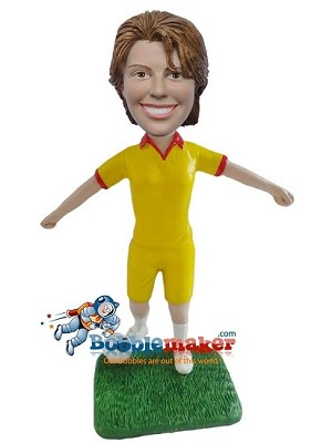 Custom Bobble Head | Soccer Player Female Bobblehead | Gift Ideas For Women