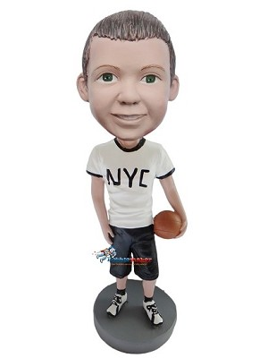 NYC Basketball Kid bobblehead Doll