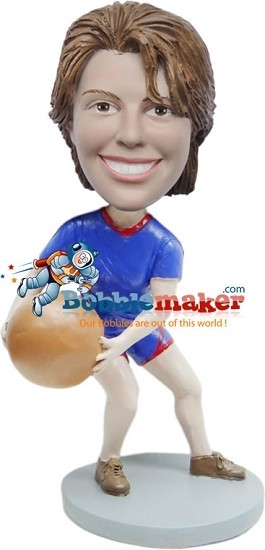 Custom Bobble Head | Female With Basketball Bobblehead | Gift Ideas For Women