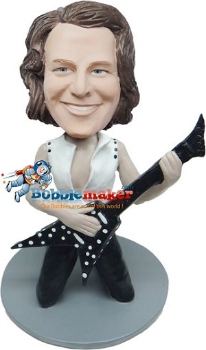 Custom Bobble Head | Rocking Guitar Player Bobblehead | Gift Ideas For Men
