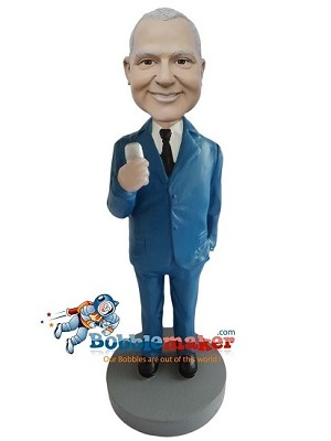 Businessman Holding Phone bobblehead Doll