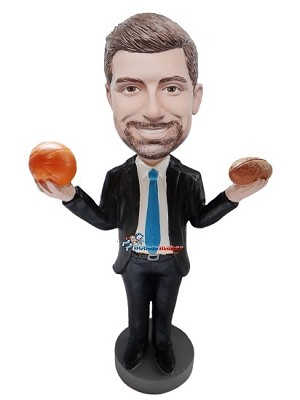 Custom Bobble Head | Businessman With Sports Balls Bobblehead | Gift Ideas For Men