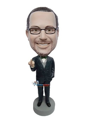 Middle Finger Giving Boss bobblehead Doll