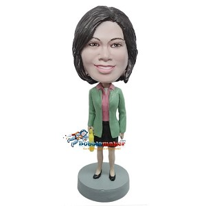 Professional Woman In Skirt bobblehead Doll