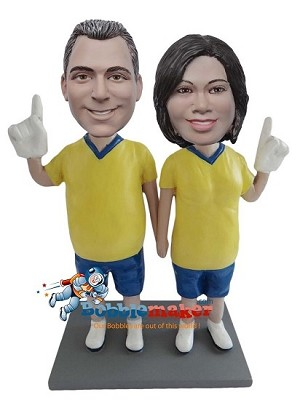 Custom Bobble Head | Sports Fan Couple Bobblehead | Gifts for Couples