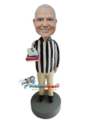Custom Bobble Head | Referee With Rule Books Bobblehead | Gift Ideas For Men