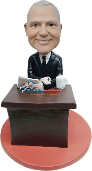 Custom Bobble Head | Talk Show Host Male Bobblehead | Gift For Men