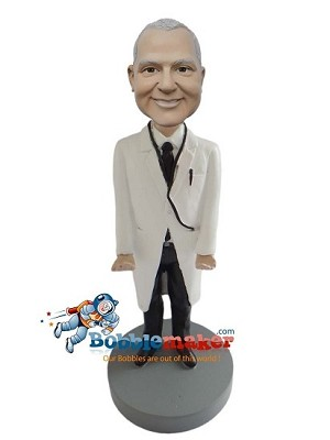 Custom Bobble Head | Male Doctor In Black Pants Bobblehead | Gift Ideas For Men