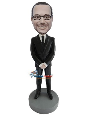Custom Bobble Head | Hands Folded Businessman Bobblehead | Gift Ideas For Men