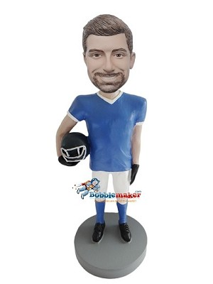 Man With Football Helmet bobblehead Doll