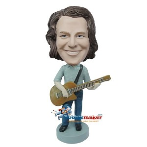 Custom Bobble Head | Male With Acoustic Guitar Bobblehead | Gift For Men