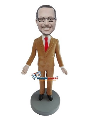 Brown Suit Executive bobblehead Doll