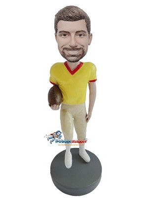 Custom Bobble Head | Casual Football Player Bobblehead | Gift For Men