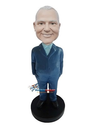 Casual Suit Male bobblehead Doll