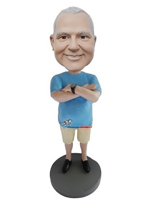 Crossed Arms Casual Male bobblehead Doll