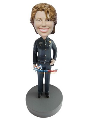 Female Police Officer bobblehead Doll
