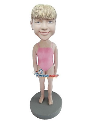 Custom Bobble Head | Girl In One-Piece Bathing Suit Bobblehead | Gift Ideas For Women
